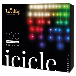 Twinkly Icicle 2 Smart julebelysning 190 LED RGB+W - Demo