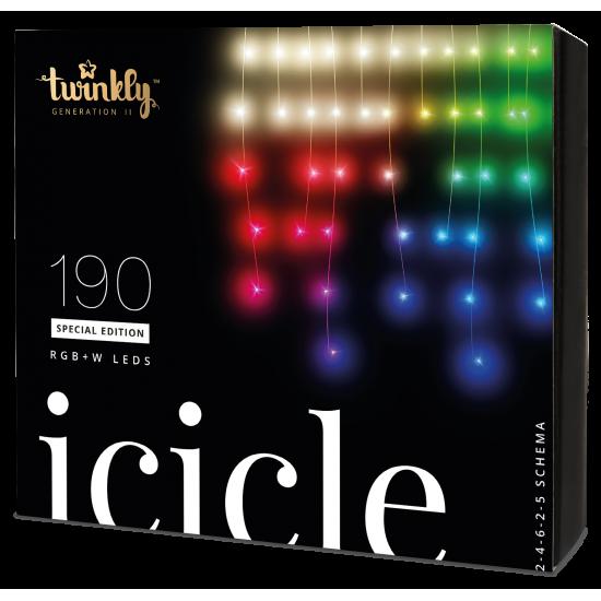 Twinkly Icicle 2 Smart julebelysning 190 LED RGB+W