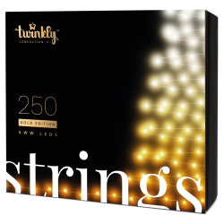 Twinkly Strings 2 Smart julebelysning 250 LED Gold