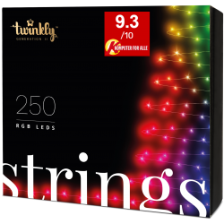 Twinkly Strings 2 Smart julebelysning 250 LED RGB - Demo