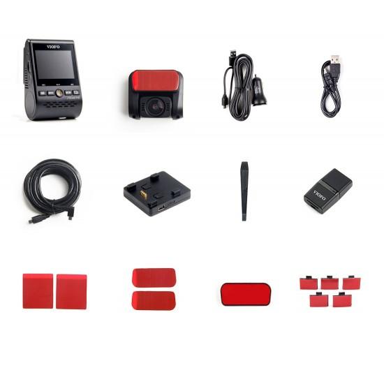 VIOFO A129 Plus Duo 2K QHD dashbordkamera med GPS