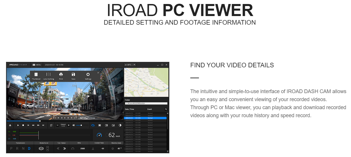 IROAD PC Viewer